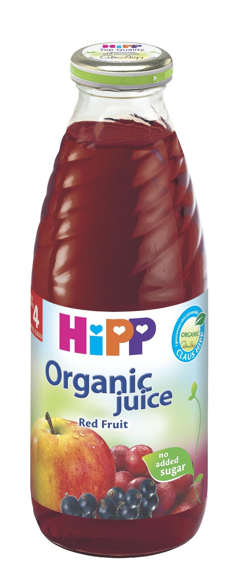 Ekologiškos raudonųjų vaisių sultys HIPP (nuo 4 mėn.), 500 ml