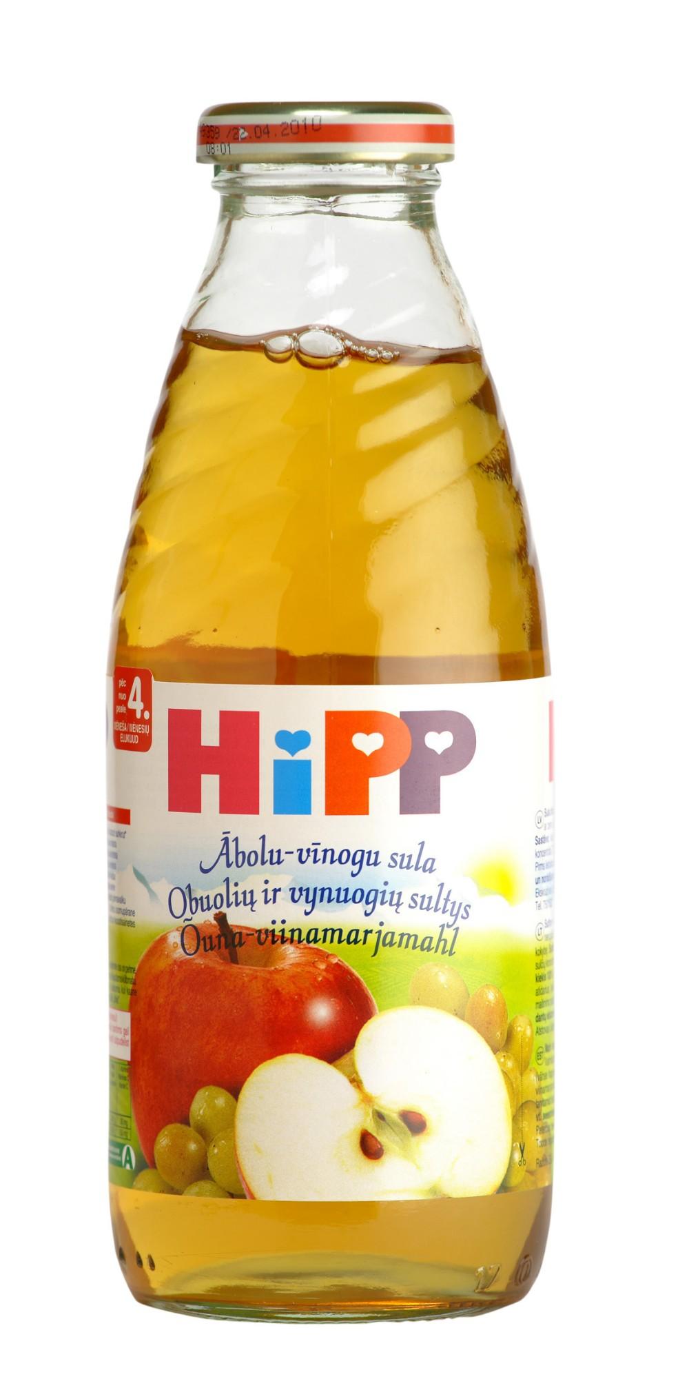 Ekologiškos obuolių ir vynuogių sultys HIPP (nuo 4 mėn.), 500 ml