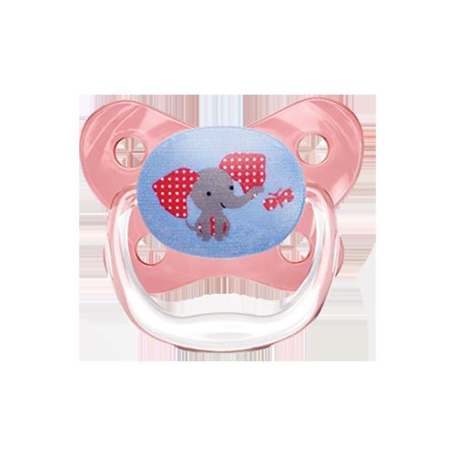 Rožinis čiulptukas PreVent DR.BROWN'S Butterfly 6-12 mėn.