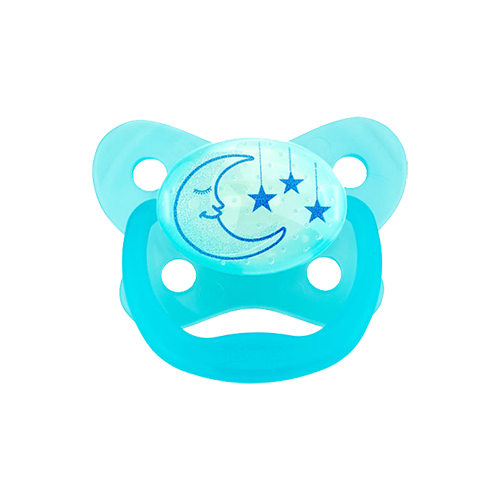 Naktį šviečiantis mėlynas čiulptukas PreVent DR.BROWN'S Butterfly 6-12 mėn.