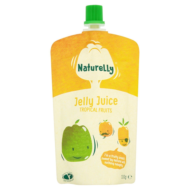 Tropinių vaisių skonio sulčių drebučiai NATURELLY vaikams nuo 12 mėn.