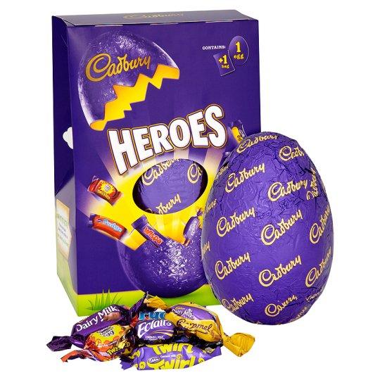 Velykinis šokoladinis kiaušinis CADBURY Heroes, 274g