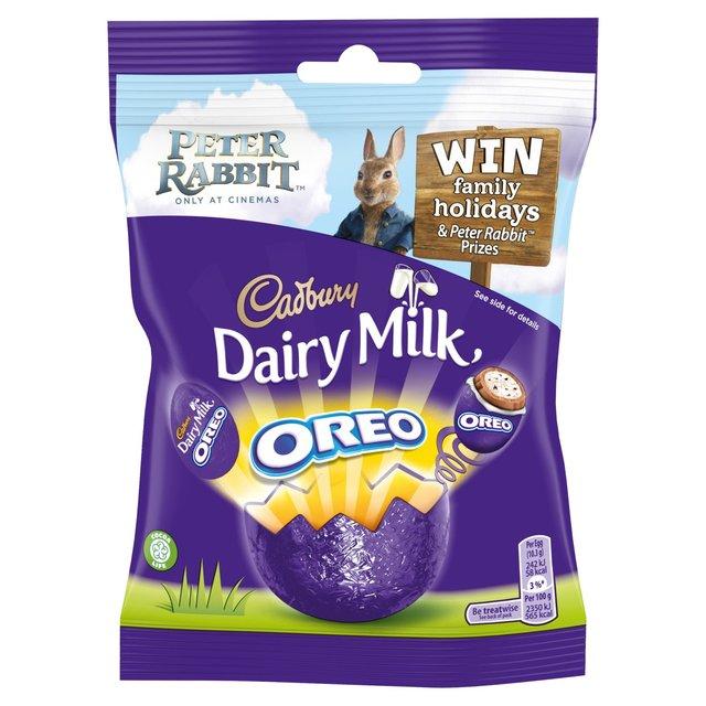 Velykinių šokoladinių kiaušinių rinkinys CADBURY Dairy Milk su oreo,82g