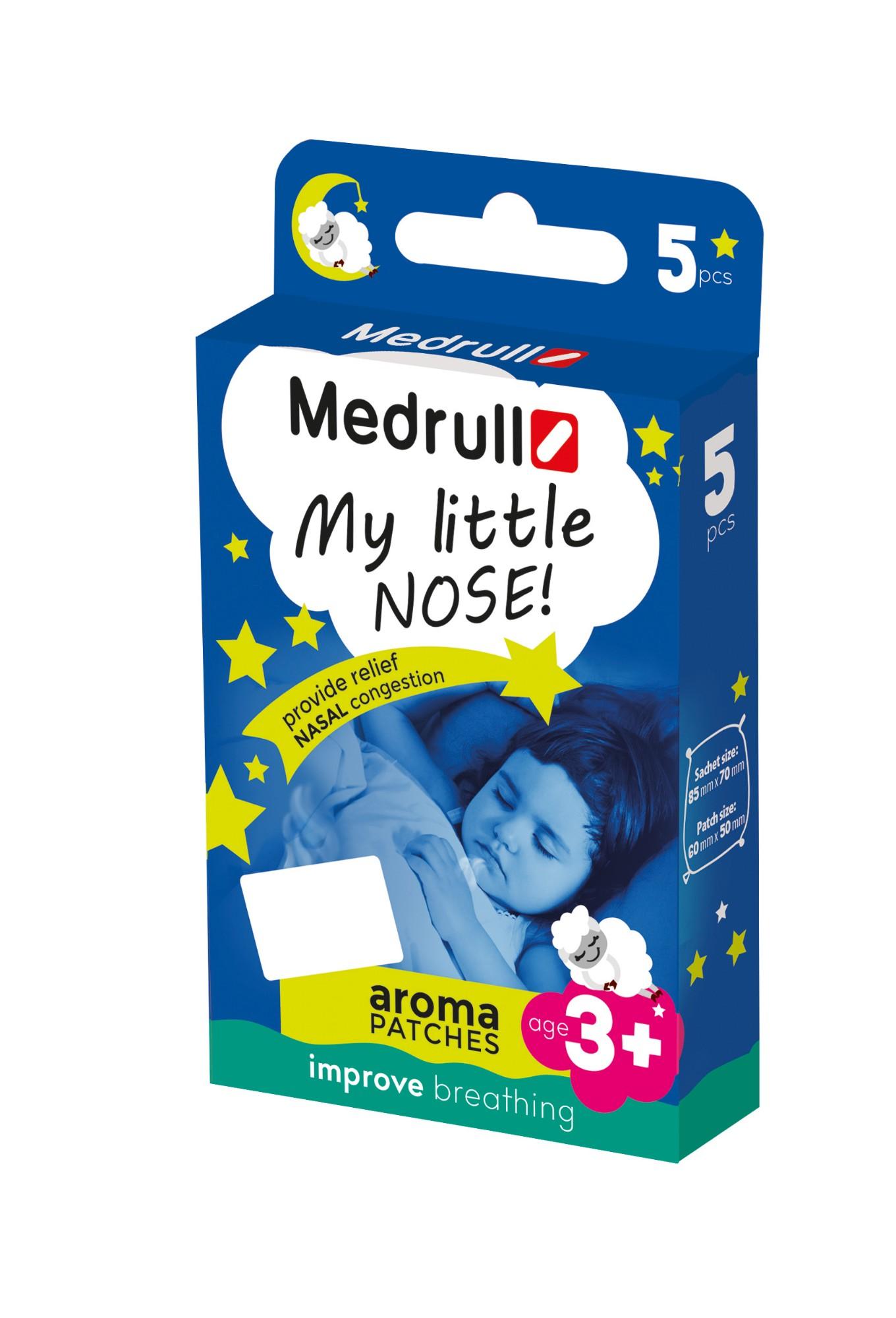 Kvėpavimo pleistras MEDRULL My little nose vaikams nuo 2 metų, 5 vnt.