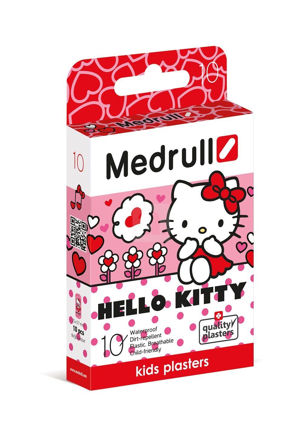 Vaikiškas pleistras MEDRULL Hello Kitty kūdikiams nuo 3 mėn., 10 vnt.