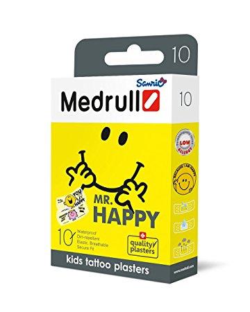 Vaikiškas pleistras MEDRULL Mr. Happy kūdikiams nuo 3 mėn., 10 vnt.
