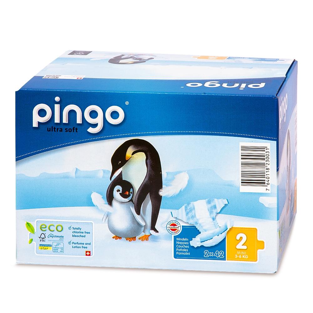 Sauskelnės PINGO 2 (3-6 kg), 84 vnt.
