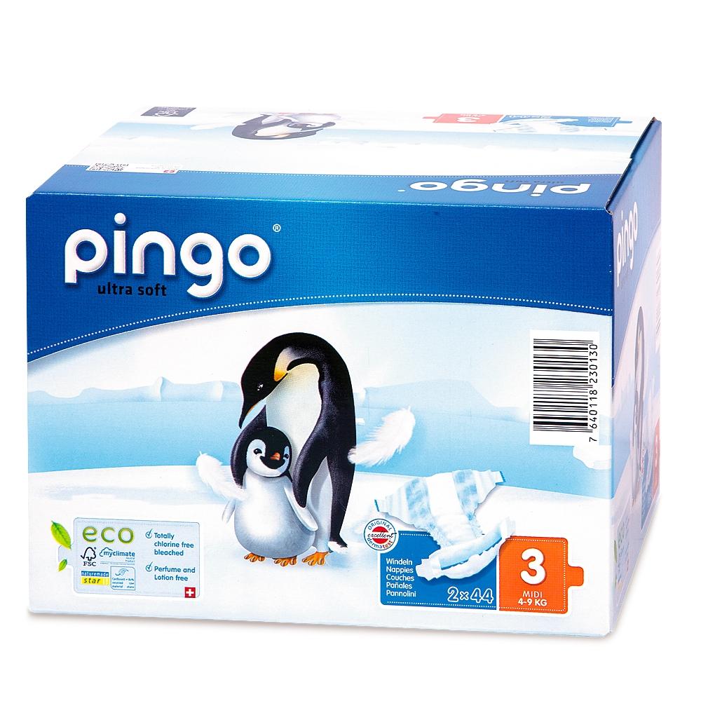 Sauskelnės PINGO 3 (4-9 kg), 88 vnt.