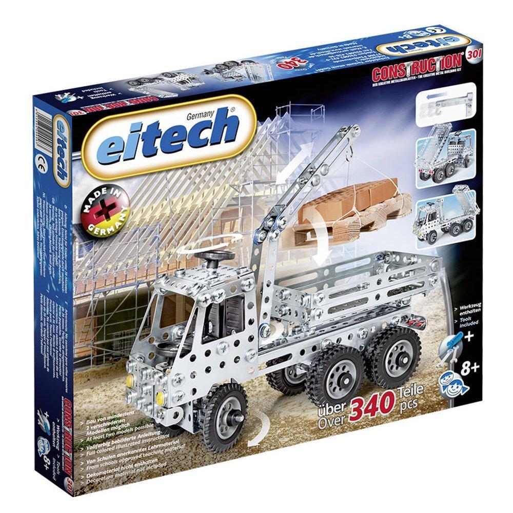 Metalinis konstruktorius EITECH Truck with crane vaikams nuo 6 metų (C301)