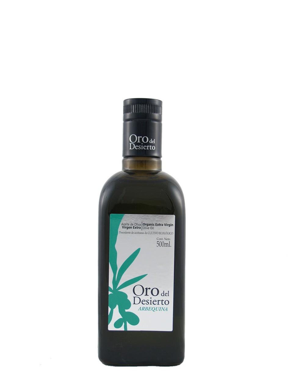 Ekologiškas ypač tyras alyvuogių aliejus ARBEQUINA ORO DEL DESIERTO, 500ml