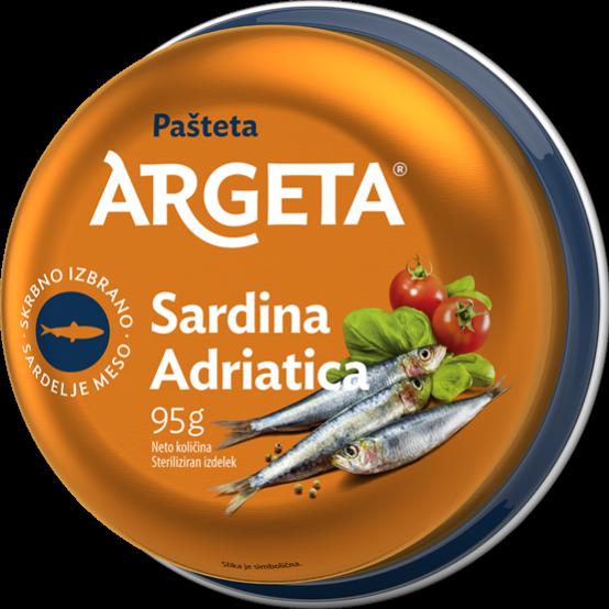 Adriatikos sardinių paštetas ARGETA, 95g