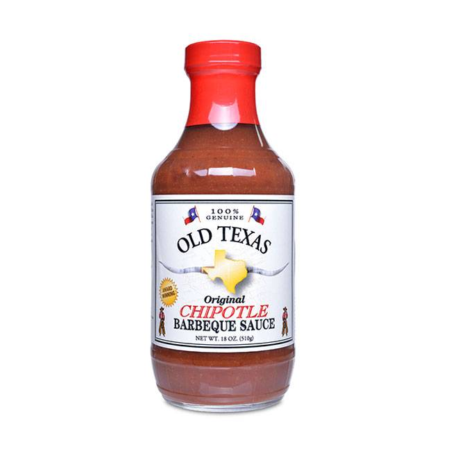 Originalus BBQ padažas OLD TEXAS, su chipotle pipirais, 455ml