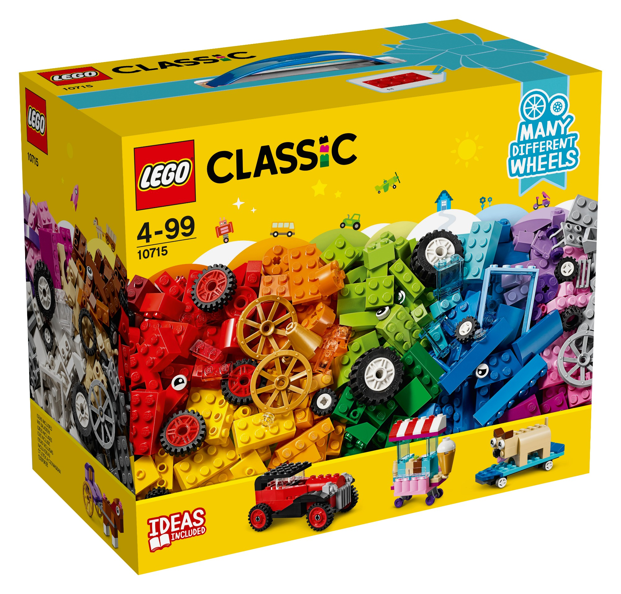 Konstruktorius LEGO CLASSIC Besisukančios kaladėlės (10715)