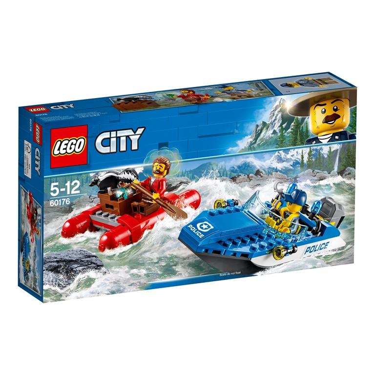 Konstruktorius LEGO CITY POLICE Pabėgimas kalnų upe (60176)