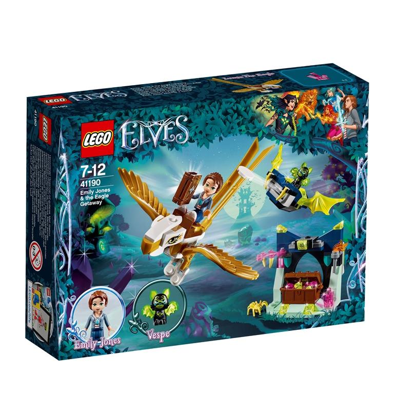 Konstruktorius LEGO ELVES Emily Jones ir pabėgimas su ereliu (41190)