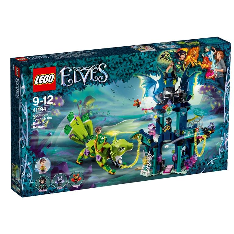 Konstruktorius LEGO ELVES Noctura bokštas ir žemės lapės išgelbėjimas (41194)