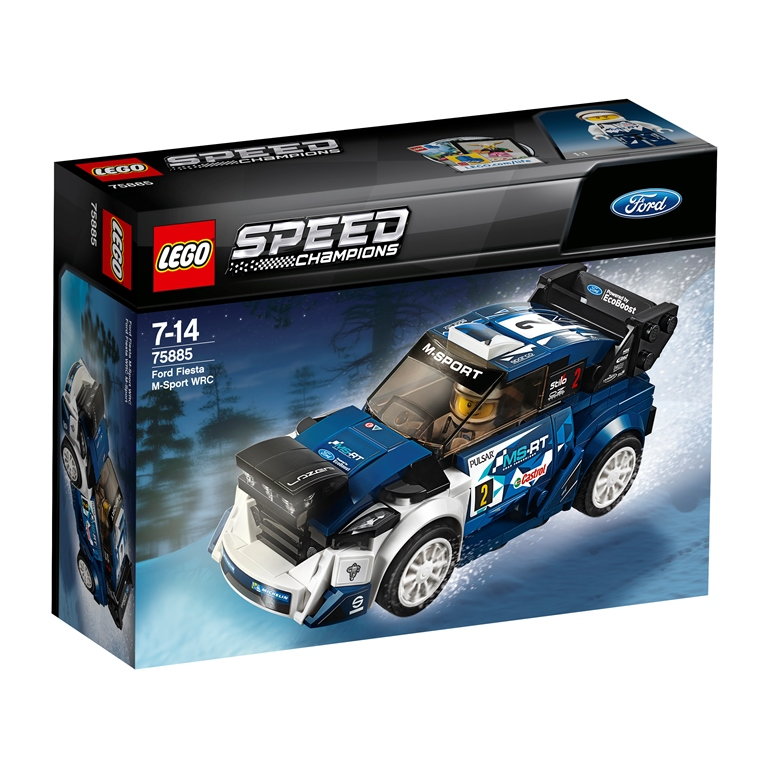Konstruktorius LEGO SPEED CHAMPIONS Ford Fiesta M-Sport WRC (75885)