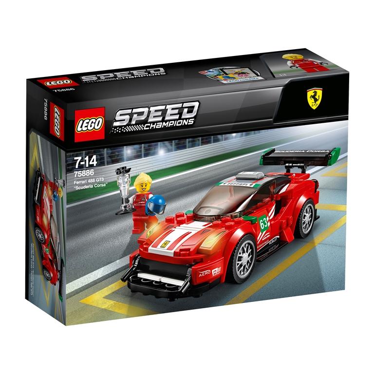 Konstruktorius LEGO SPEED CHAMPIONS Ferrari 488 GT3 Scuderia Corsa (75886)