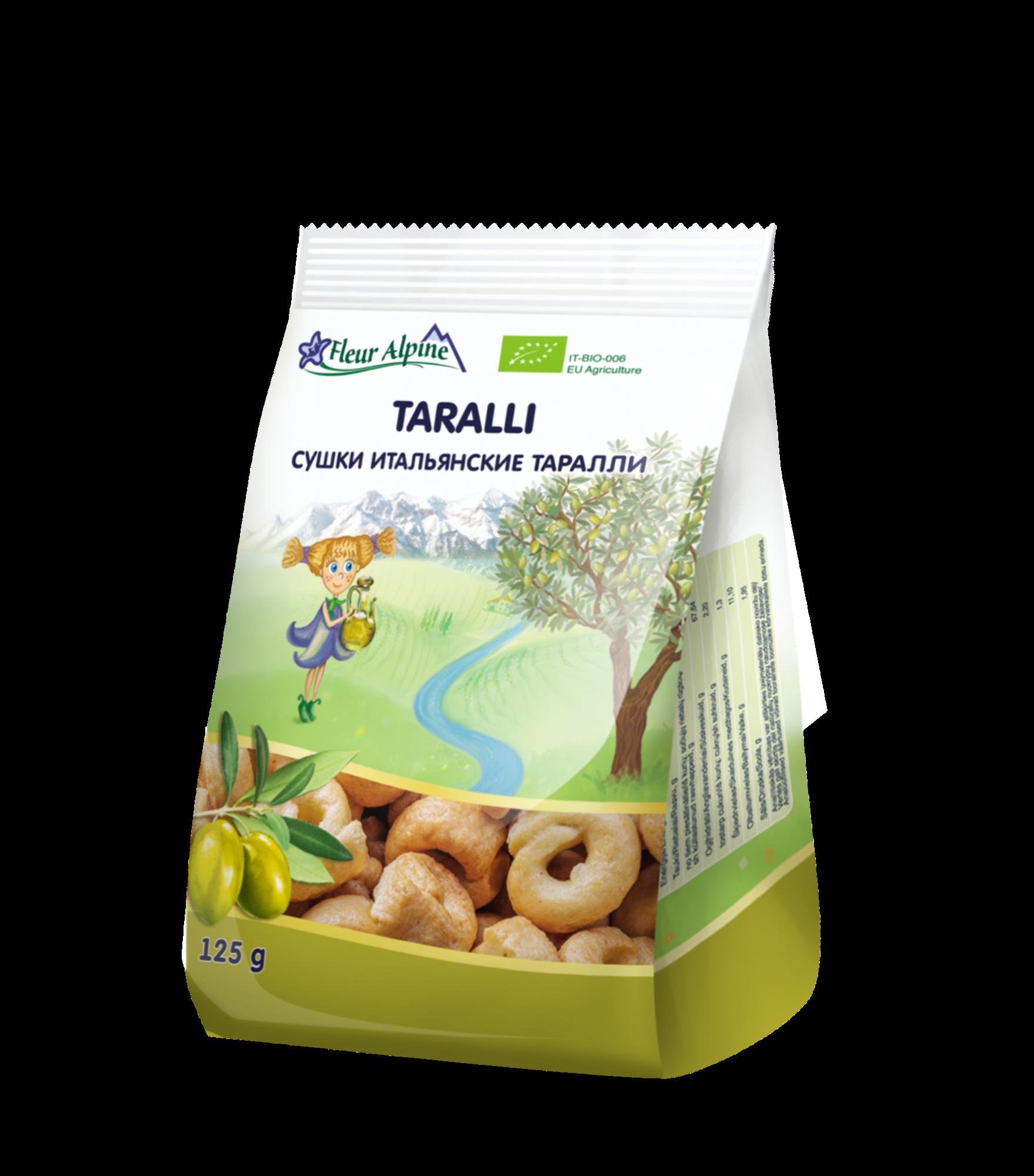 Ekologiški itališki traškučiai FLEUR ALPINE Taralli visai šeimai, 125 g