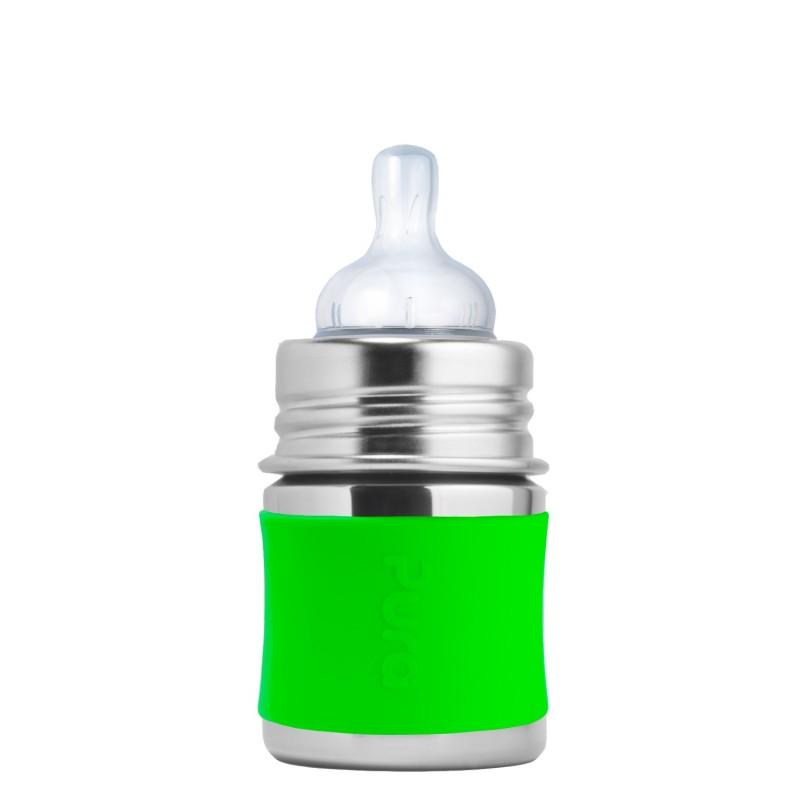 Žalias buteliukas PURA KIKI su žinduku kūdikiams nuo 0+ mėn., 150 ml