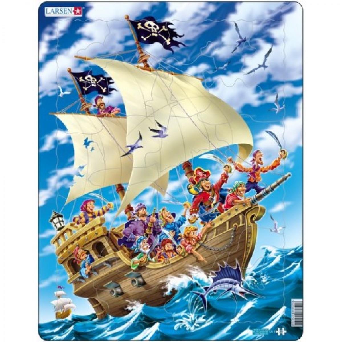 Norvegiška dėlionė LARSEN Piratai Maxi, 3-7 metų vaikams