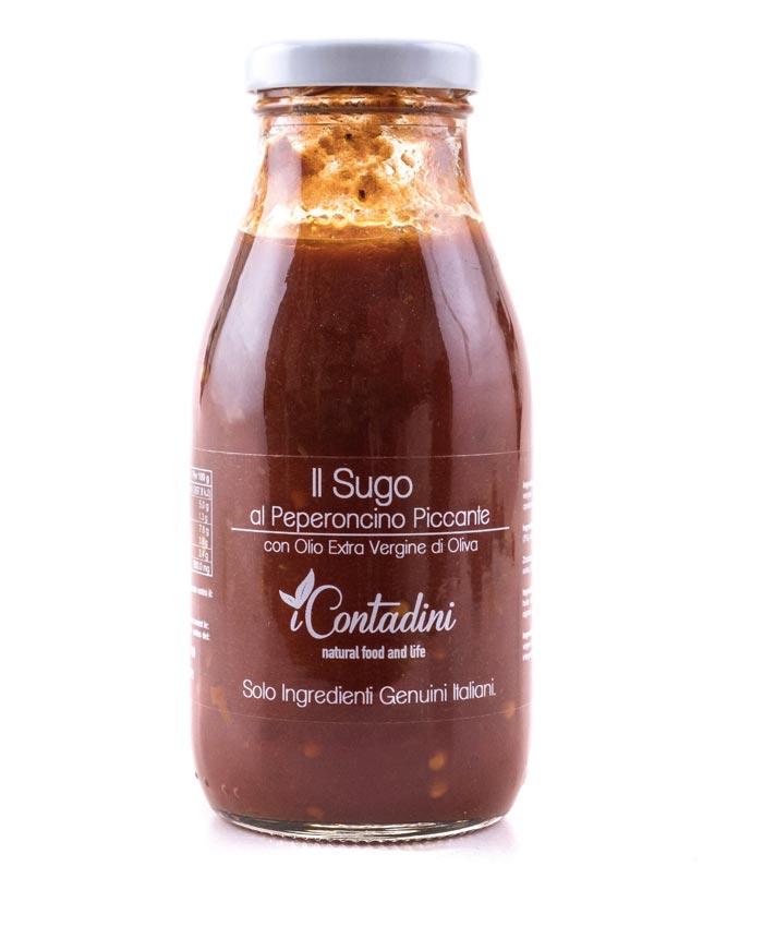 Pomidorų padažas ICONTADINI su aitriąja paprika, 250g