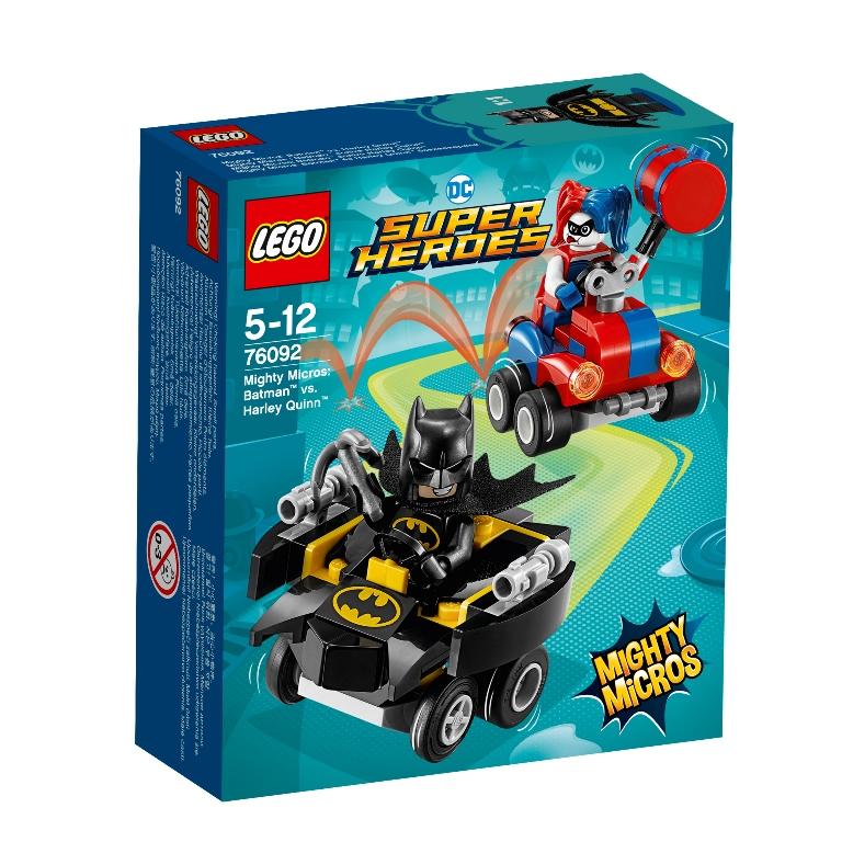 Konstruktorius LEGO SUPER HEROES Galingi mažieji: Batman prieš Harley Quinn (76092)
