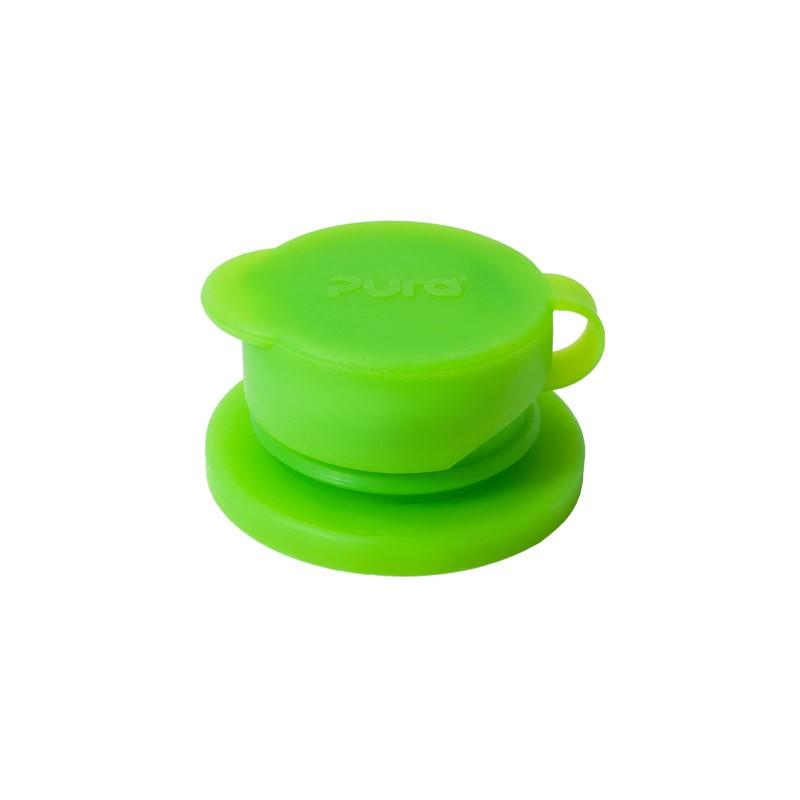 Žalias silikoninis gertuvės antgalis buteliukui PURA KIKI