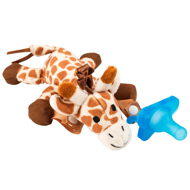 Čiulptuko laikiklis-migdukas DR.BROWN'S Žirafa su mėlynu vientisu čiulptuku