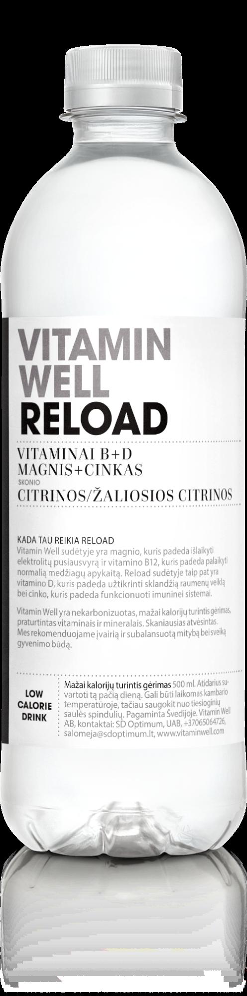 Vitaminų gėrimas Vitamin Well Reload, 500ml