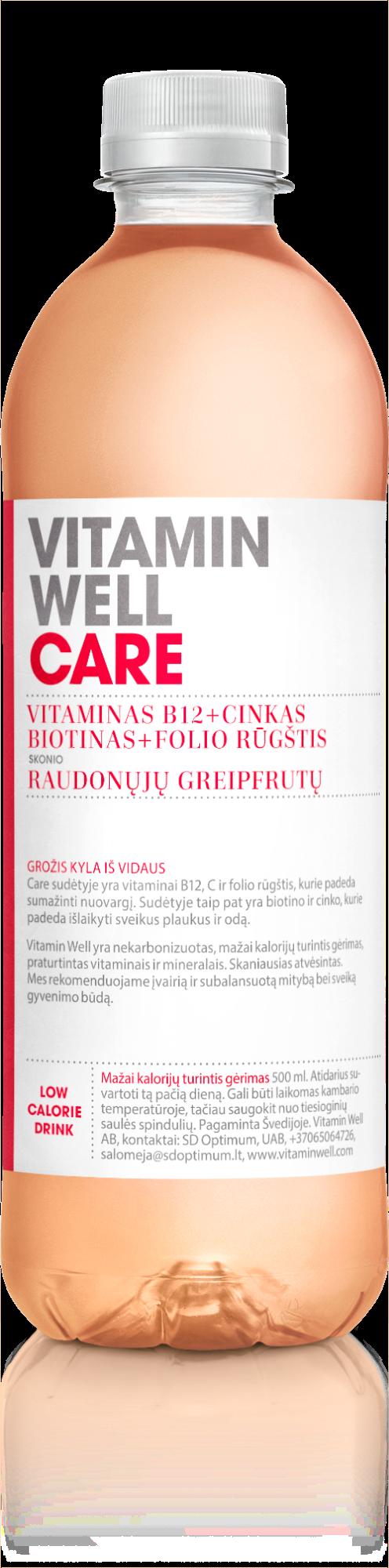 Vitaminų gėrimas Vitamin Well Care, 500ml