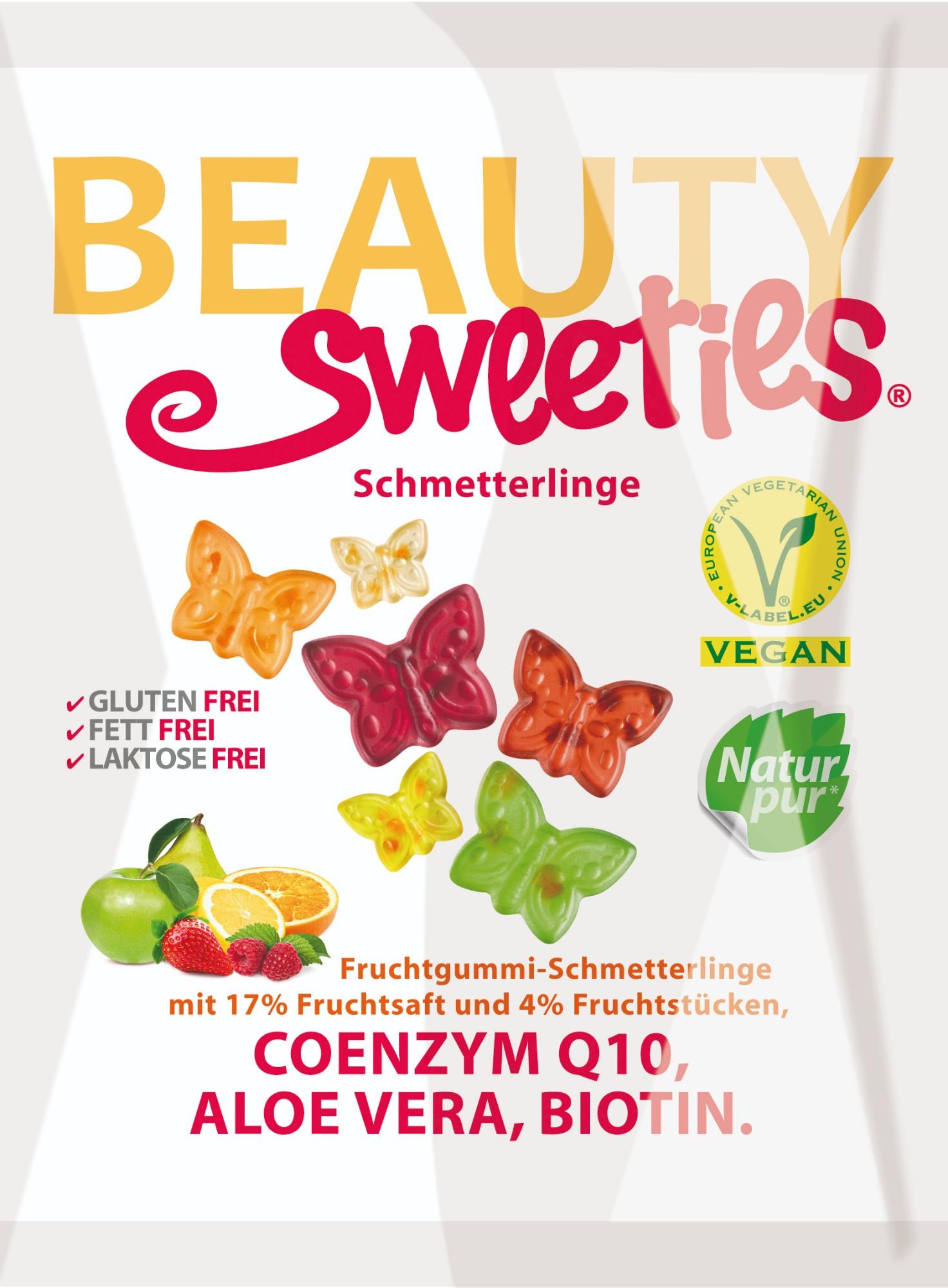 """Guminukai su maisto papildais """"Drugeliai"""" Beauty Sweeties  125g"""