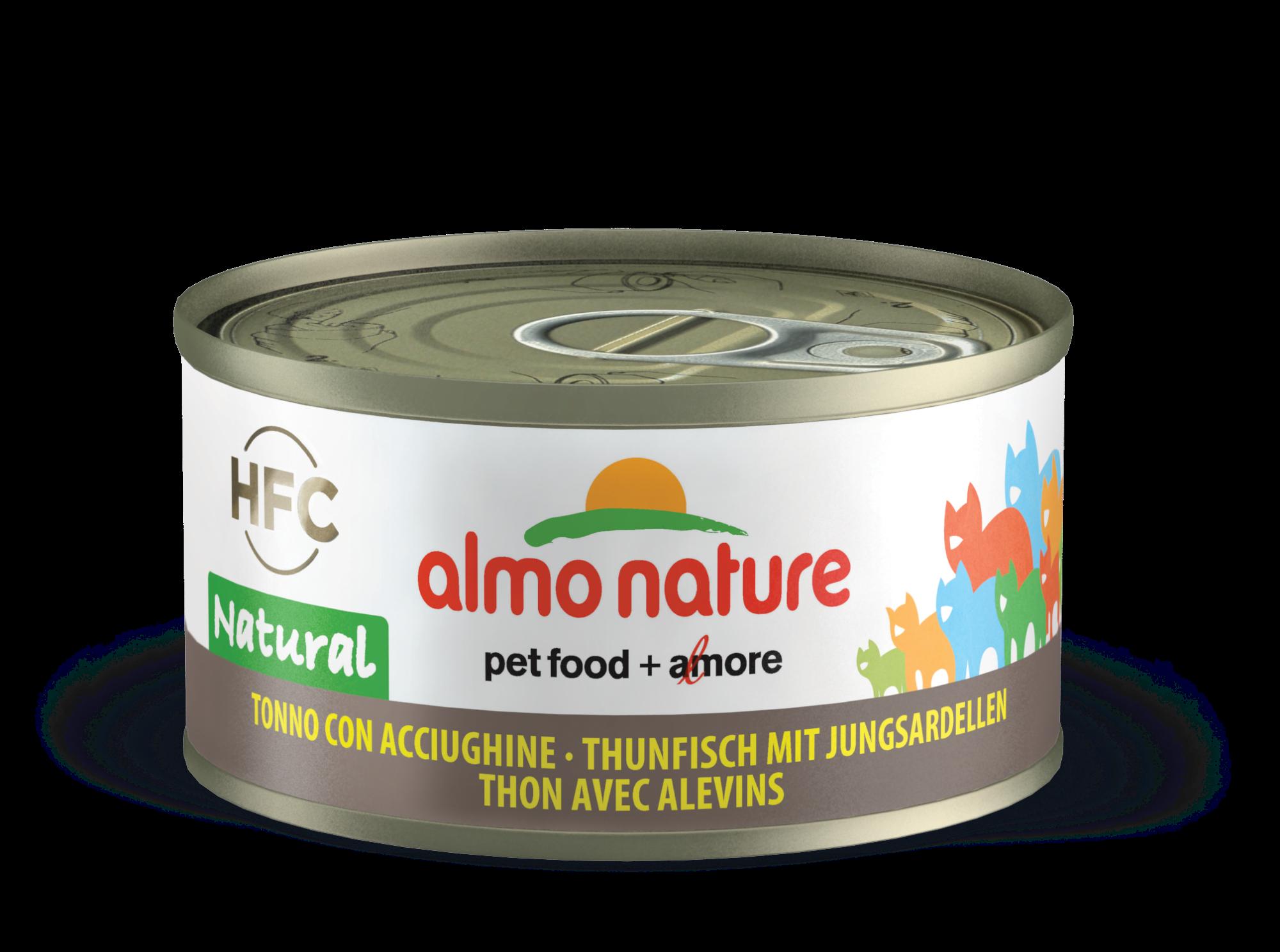Konservai katėms – ALMO NATURE HFC Natural, tunas su balta žuvimi, 70g