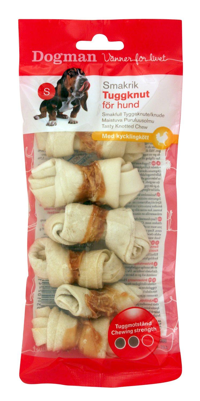 DOGMAN kramtalas šunims (odos kaulai) Tasty Knotted Chew
