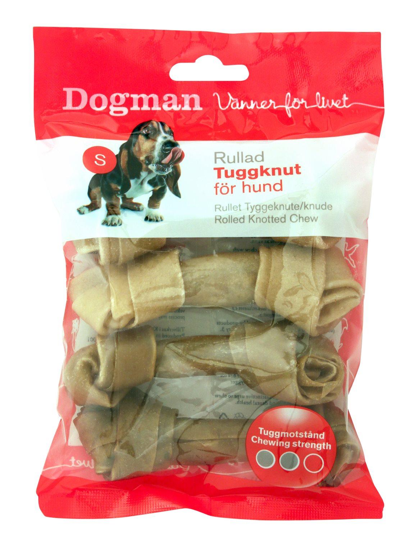 DOGMAN kramtalas šunims (odos kaulai) Rolled Knotted Chew brown