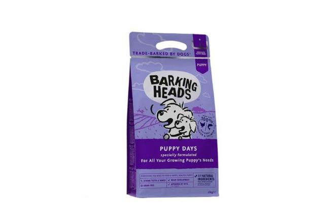 BARKINGHEADS PUPPY DAYS begrūdis pašaras šuniukams 2kg