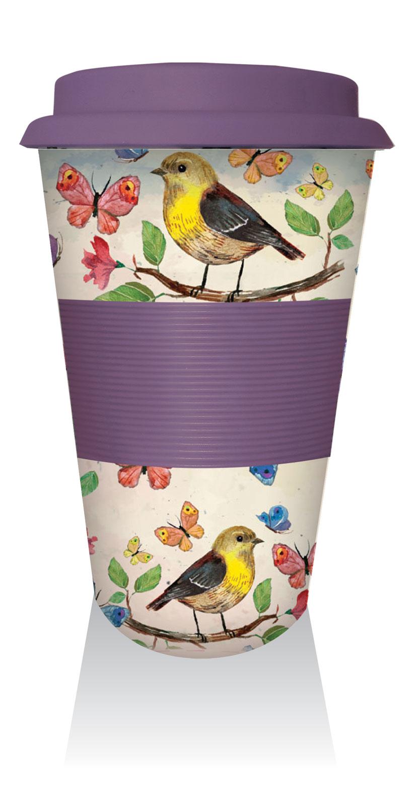 Bambukinis puodelis Birds