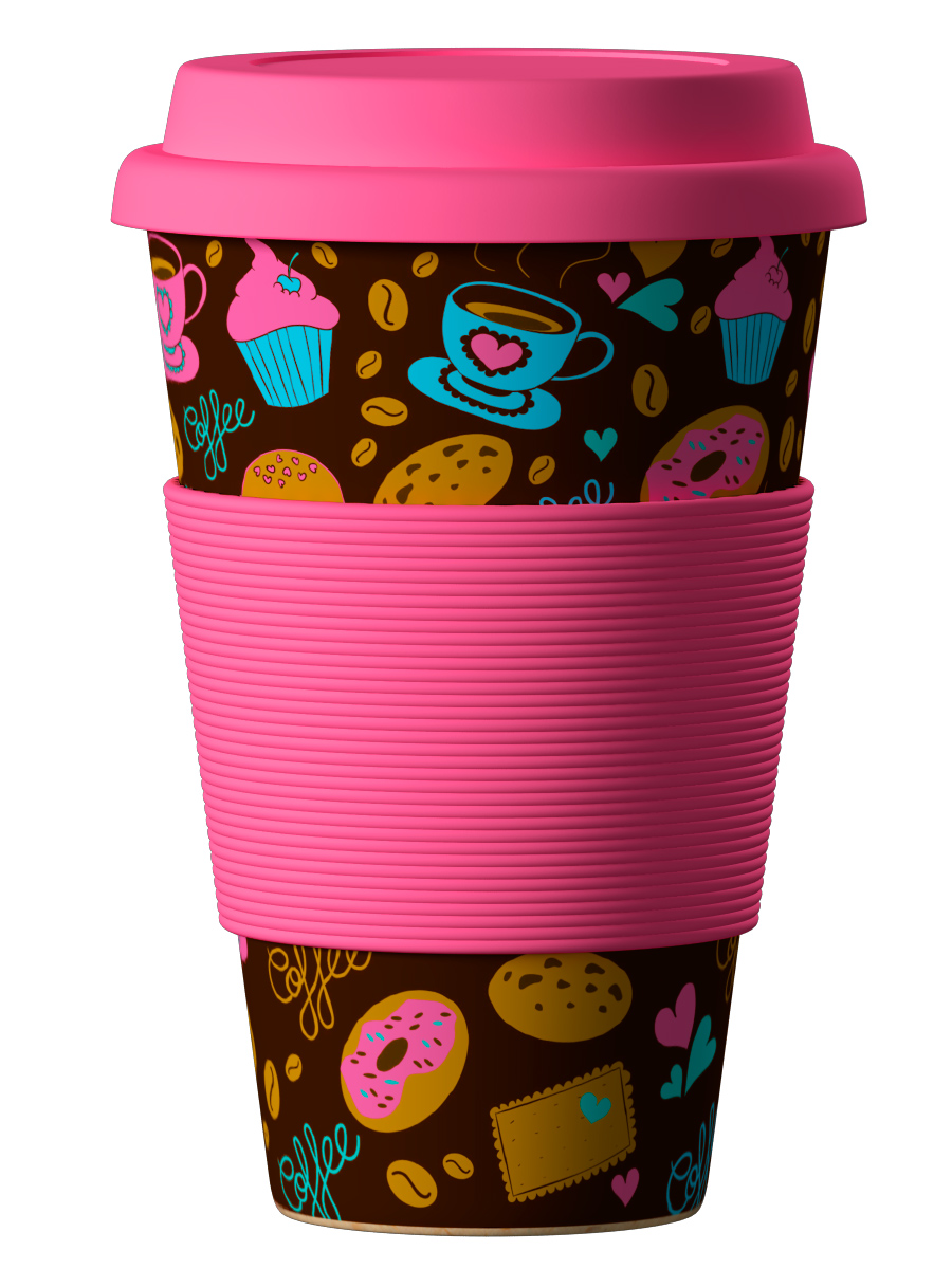 Bambukinis puodelis Donuts