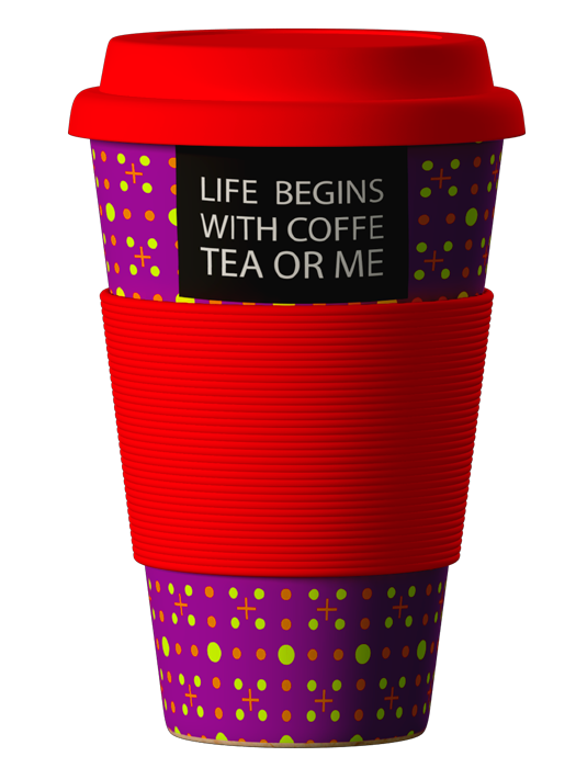 Bambukinis puodelis Slogan