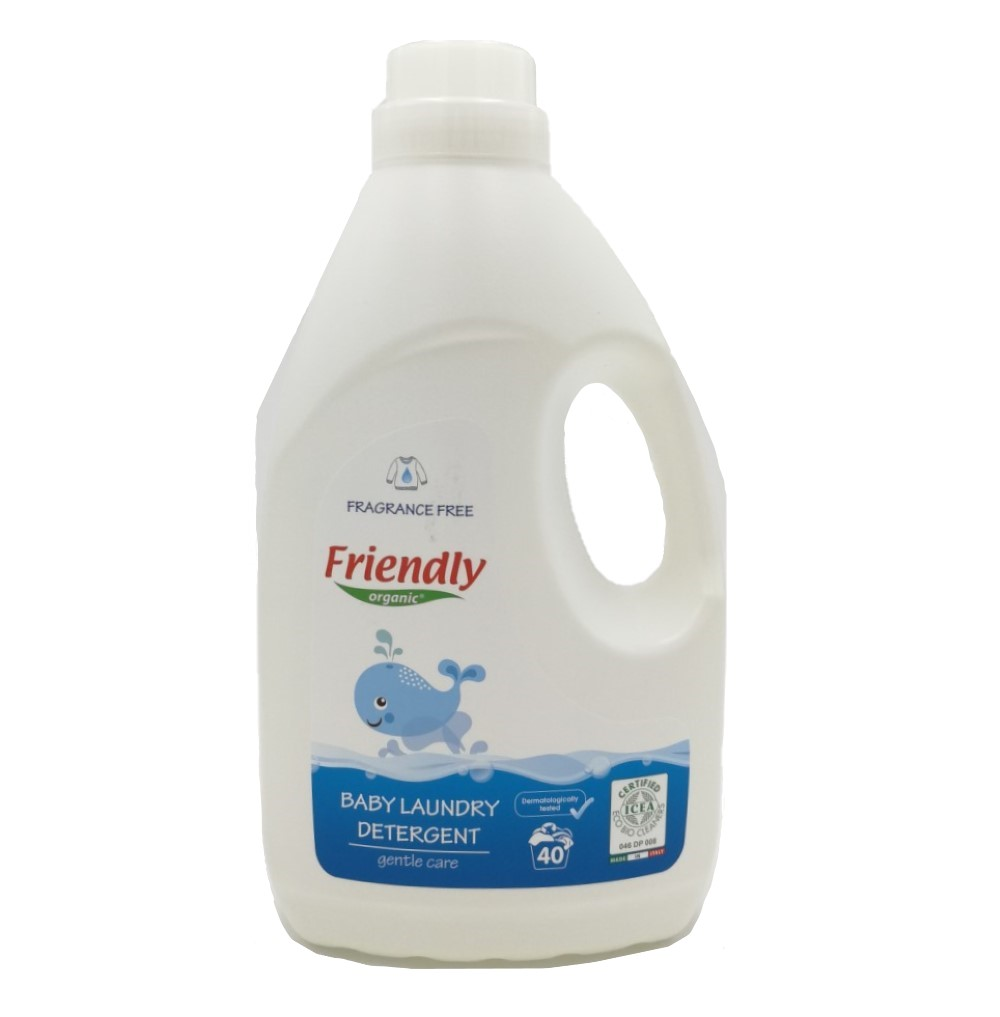 Ekologiškas skystas skalbiklis vaikų rūbams FRIENDLY ORGANIC, bekvapis, 2 L