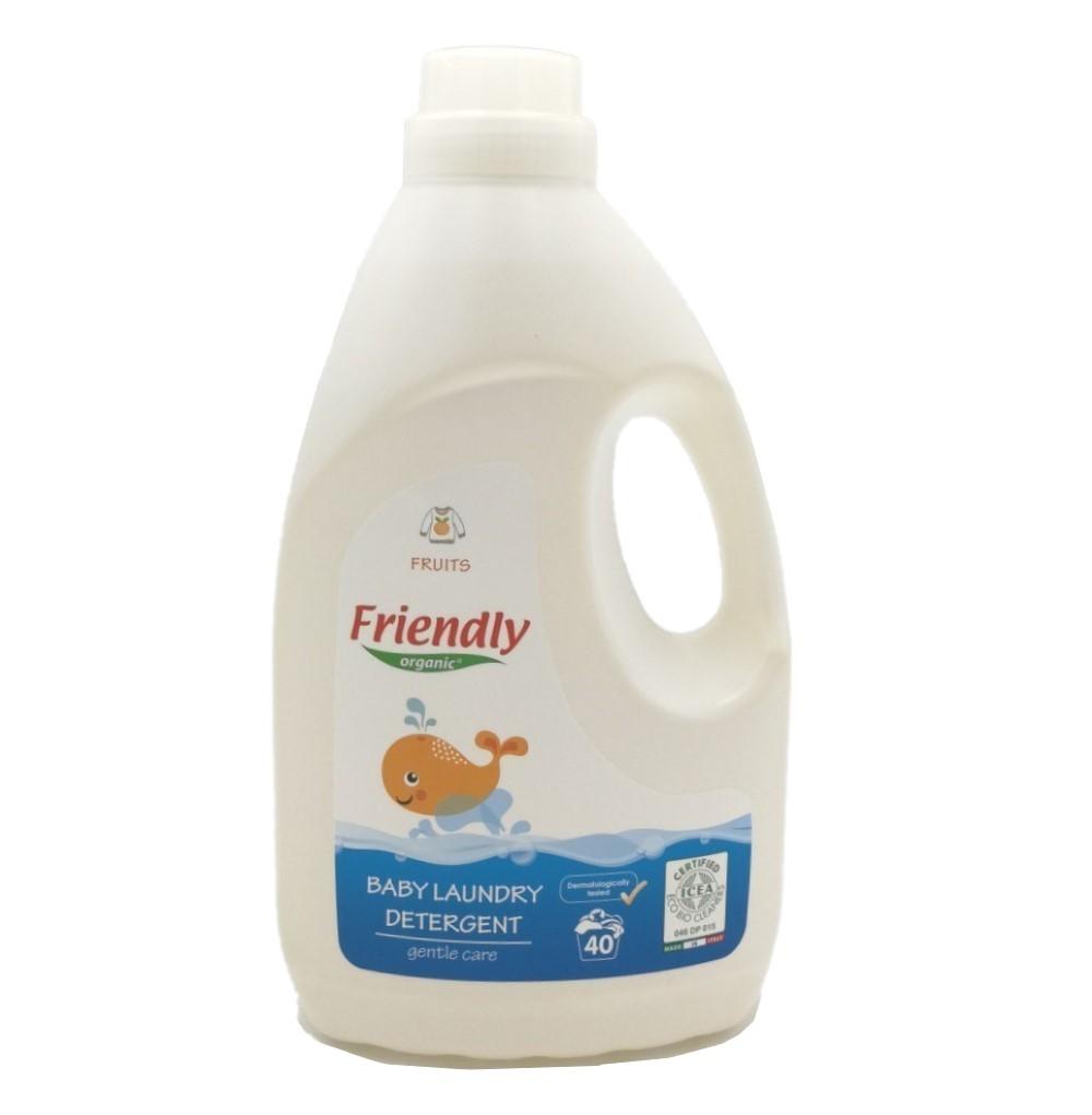 Ekologiškas skystas skalbiklis vaikų rūbams FRIENDLY ORGANIC, vaisių kvapo, 2 L