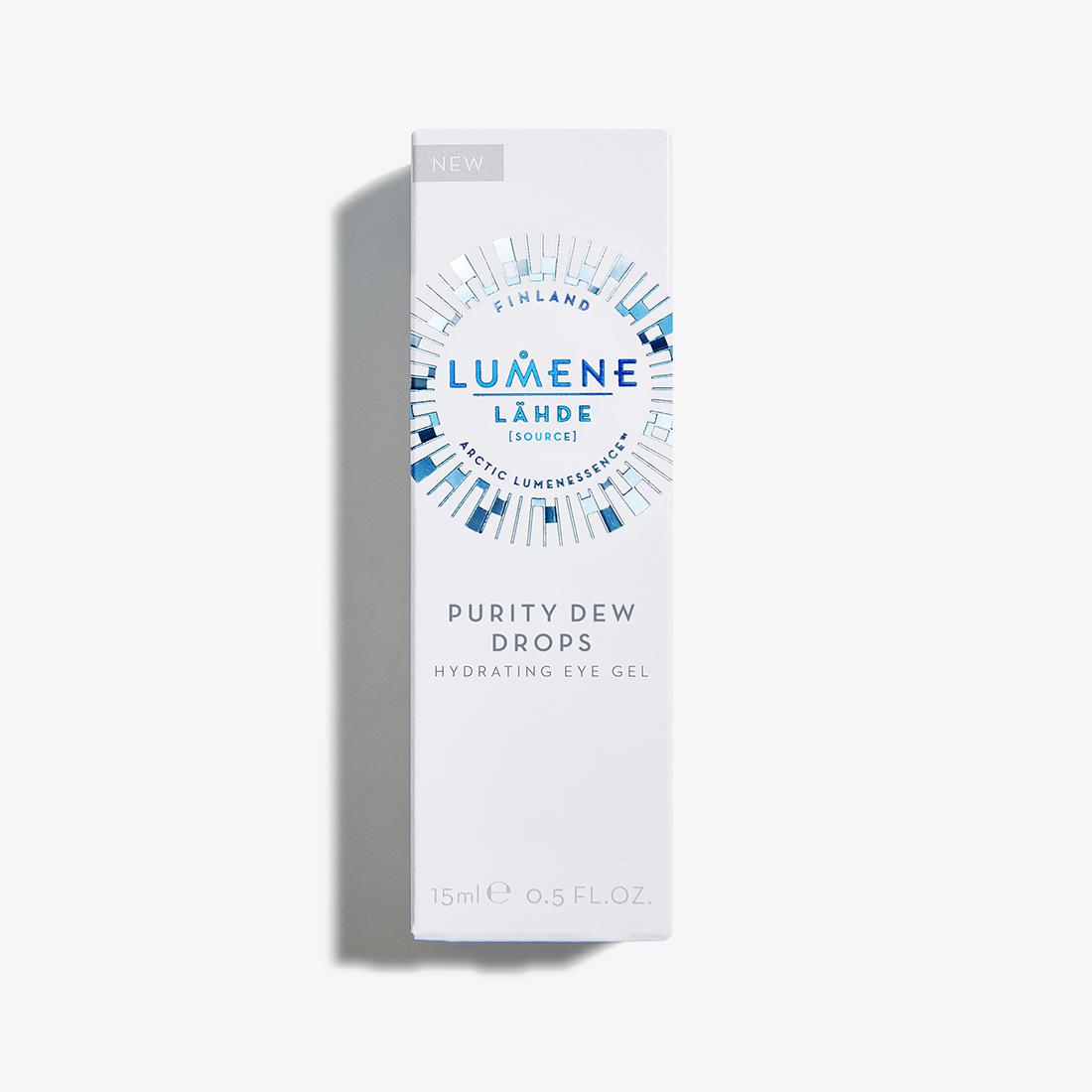 Drėkinantis paakių gelis LUMENE LÄHDE Pure Dew Drops, 15 ml