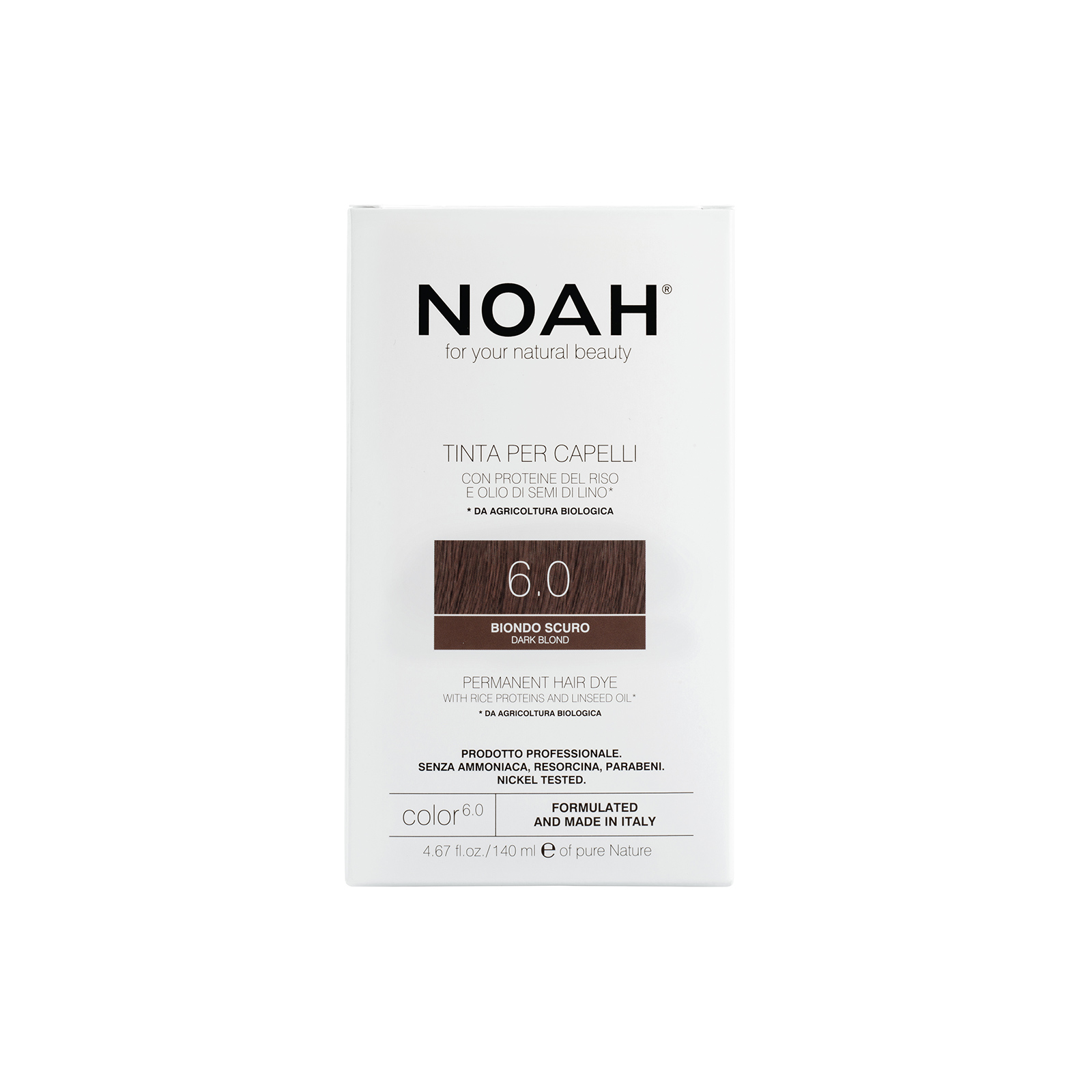 Plaukų dažai NOAH (6.0 tamsi blondinė), 140ml
