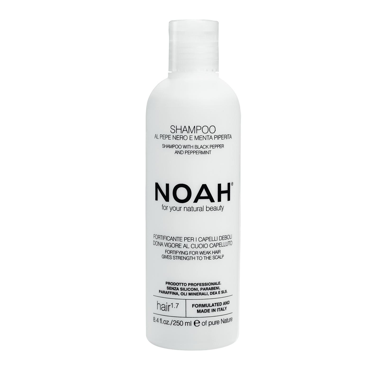 Plaukus stiprinantis šampūnas NOAH silpniems, slenkantiems plaukams, 250 ml