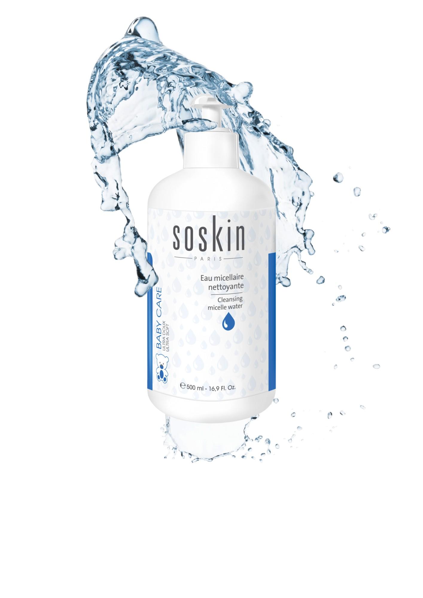 Valomasis micelinis vanduo vaikams SOSKIN, 500 ml
