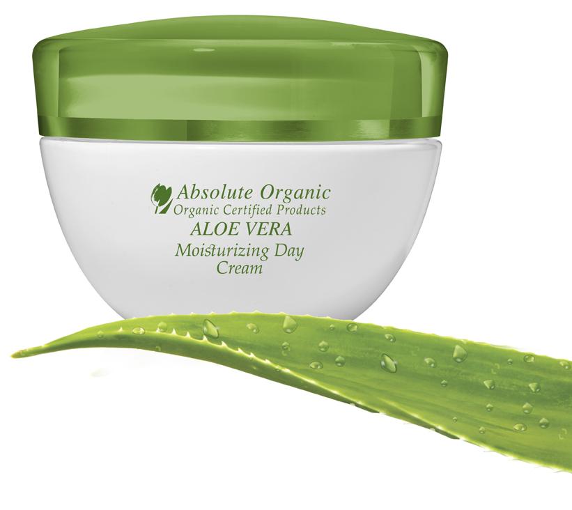 Drėkinamasis dieninis kremas Absolute Organic Aloe Vera, 50 ml