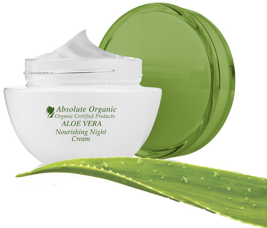 Maitinamasis naktinis kremas Absolute Organic Aloe Vera, 50ml
