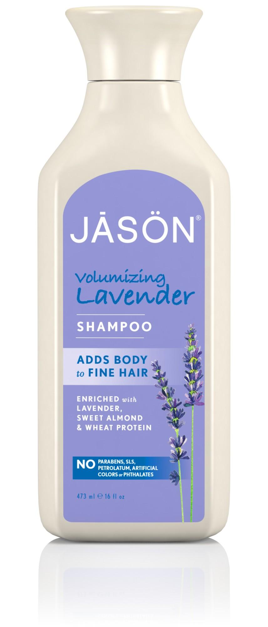 Apimties suteikiantis šampūnas JASON su levandų ekstraktu, 454 ml