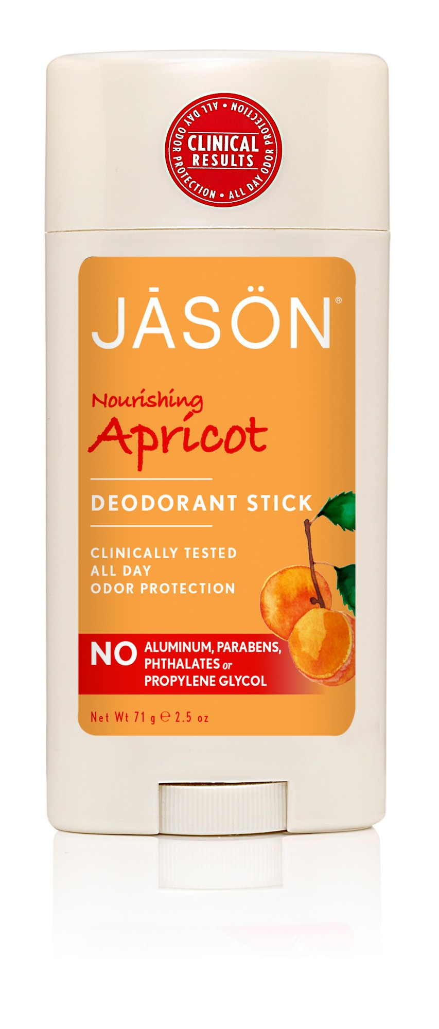 Sausas dezodorantas  JASON abrikosų kvapo, 71 g