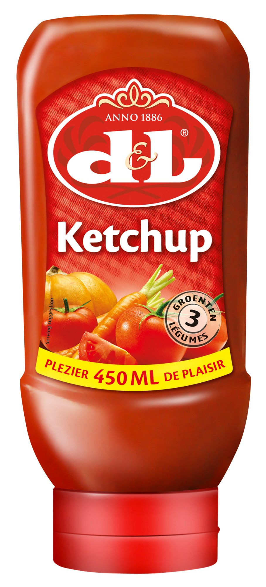 Kečupas, D&L, 450ml